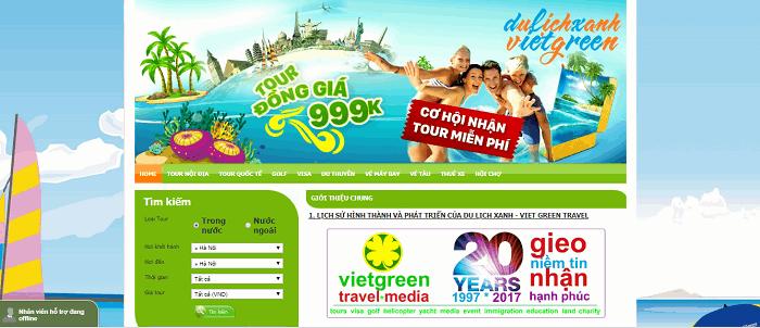 Công ty Cổ phần Du lịch và Truyền thông Màu Xanh (Viet Green Travel)