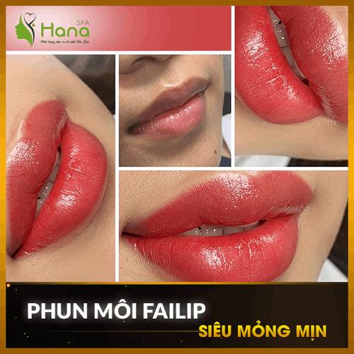 Phun môi Failip siêu mỏng mịn tại Hana Spa Đà Lạt