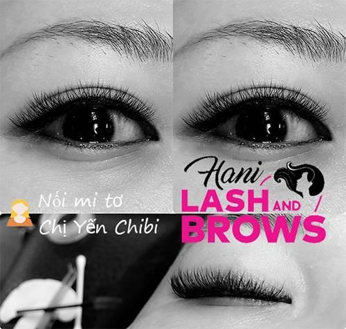 Khách hàng nối mi tơ tại địa chỉ nối mi đẹp Hani Lash & Brows