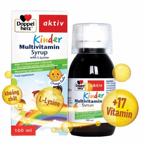 Vitamin tổng hợp cho bé Kinder Multivitamin Syrup