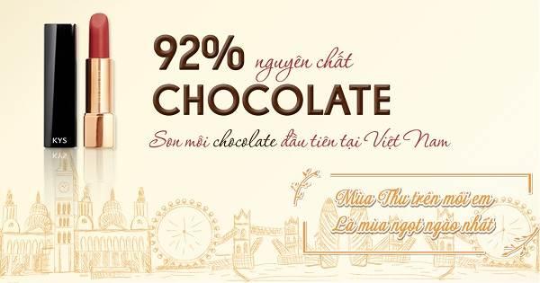 KYS là sỏi son môi chocolate đầu tiên tại Việt Nam