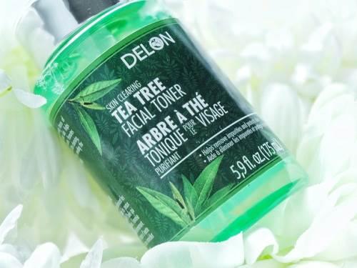 Nước hoa hồng cho da dầu mụn Delon Tea Tree 175ml