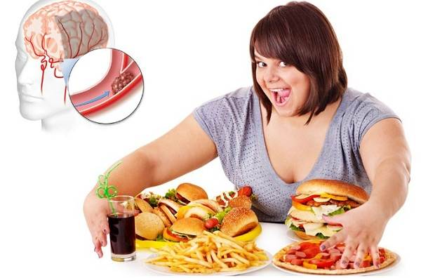 Ăn quá nhiều gây béo phì và giảm trí nhớ