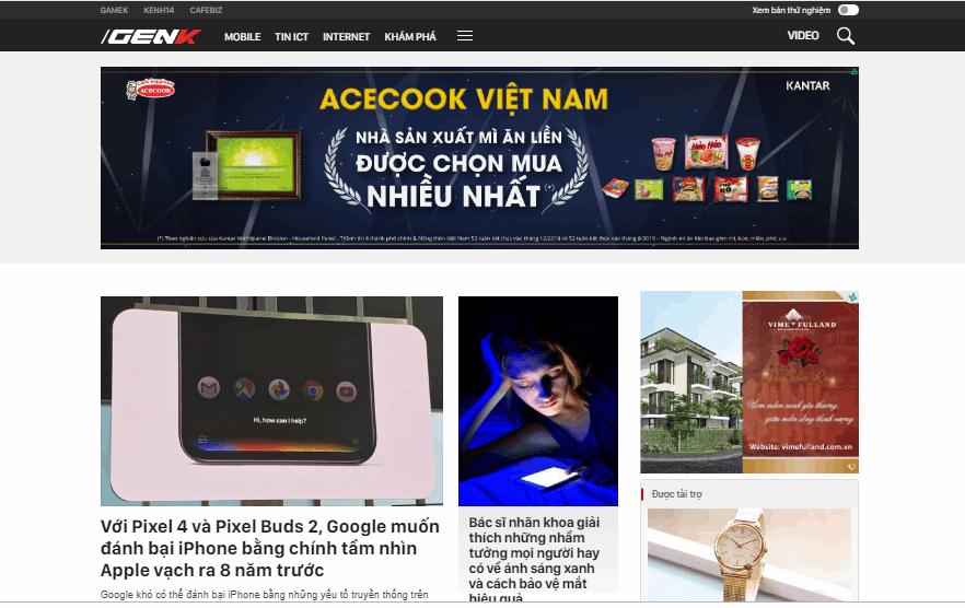 Trang chủ trang công nghệ Genk.vn