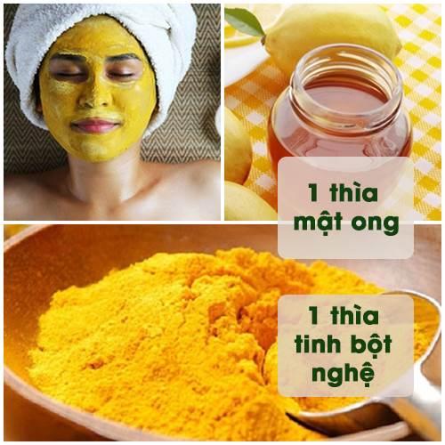 phương pháp trị mụn bằng bột nghệ và mật ong