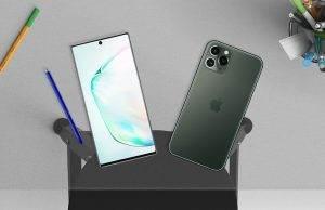 iphone 11 pro max vs samsung galaxy note 10+