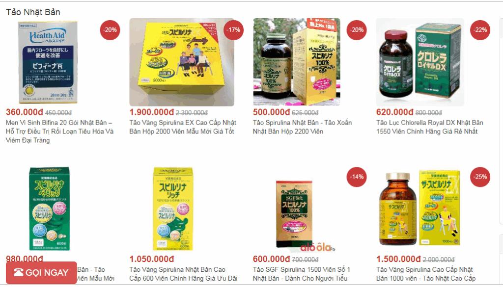 mua Tảo Nhật Bản trên siêu thị Aloola.vn