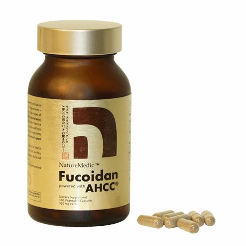 NatureMedic Fucoidan AHCC hộp vàng 160 viên