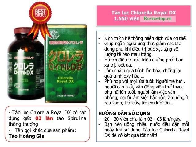 Công dụng của tảo lục Chlorella Royal Dx