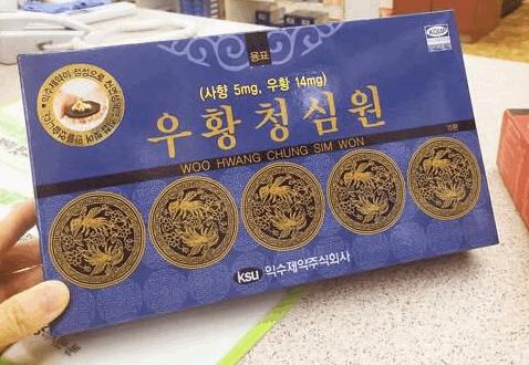an cung ngưu hoàng hoàn IKSU hộp xanh của Hàn Quốc