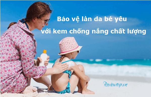 kem chống nắng của Nhật dành cho trẻ em