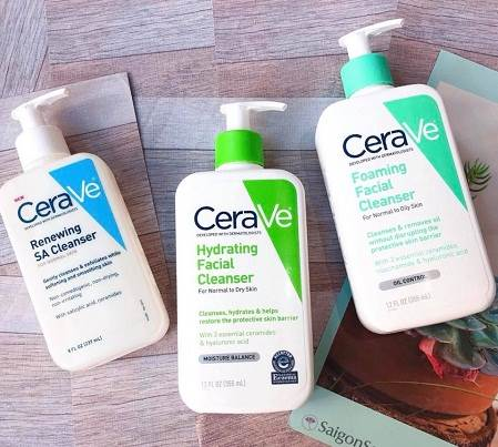 Sữa rửa mặt cho da nhạy cảm tốt nhất Cerave