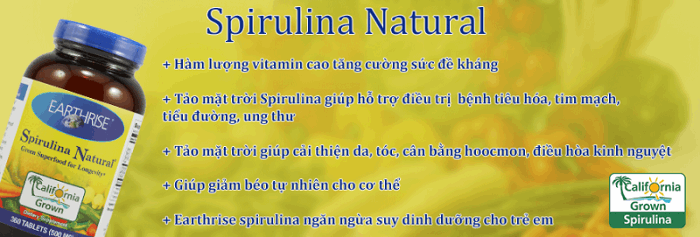 Tảo Spirulina Natural