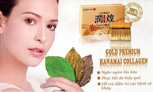 Collagen Hanamai Gold vàng hộp 60 gói