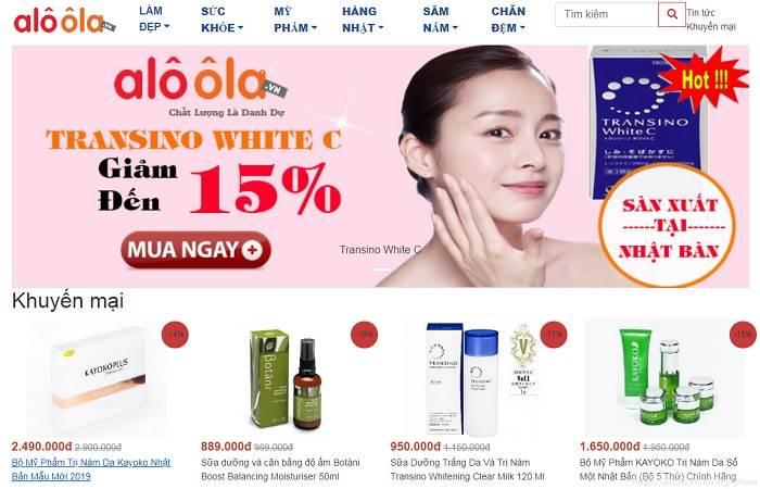 top 15 trang web bán mỹ phẩm uy tín chất lượng