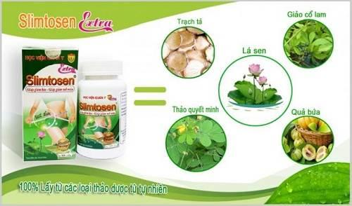 Viên Slimtosen được bào chế hoàn toàn từ thảo dược tự nhiên