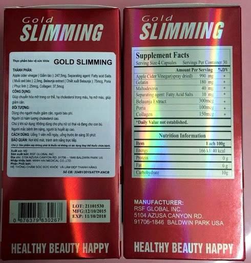 Những thông tin chi tiết về Hộp viên giảm cân Slimming