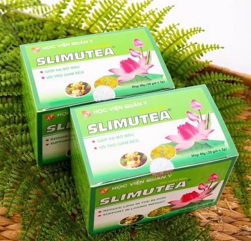 Hộp 20 gói trà giảm cân Slimutea của Học viện Quân y