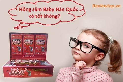 Hồng sâm baby Hàn Quốc có thực sự tốt không?