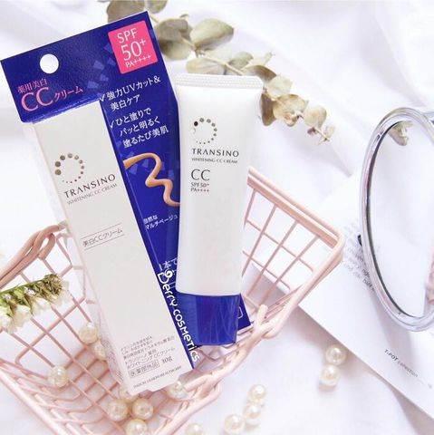 Kem trang điểm dưỡng trắng Transino Whitening CC Cream