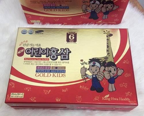 Hồng sâm hươu cao cổ Gold Kids 20ml x 30 gói