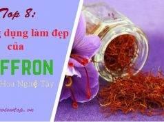 Công dụng làm đẹp của saffron nhụy hoa nghệ tây