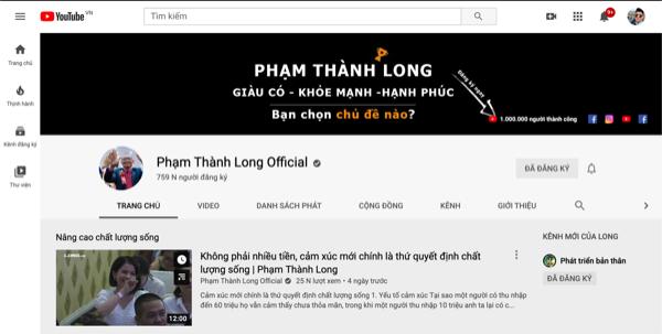 Ông có 1 lượng Fan đông đảo gần 800 nghìn lượt subscribe trên Youtube