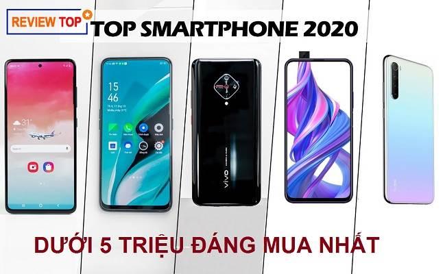 Top 7 điện thoại giá dưới 5 triệu đáng mua nhất năm 2020
