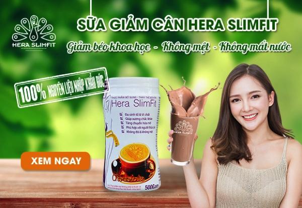 Sữa giảm cân Hera SlimFit GIảm béo khoa học - Không mệt - Không mất nước