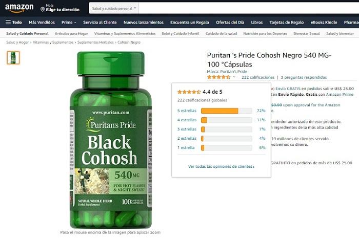 Review Black Cohosh 540 mg Puritan's Pride viên nội tiết nữ Mỹ