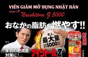 Viên uống giảm mỡ bụng của Nhật Naishitoru Z 5000 Review