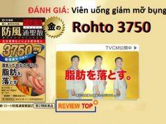 Viên uống giảm mỡ bụng Rohto 3750 đánh giá từ người dùng